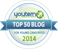YouTern Top 50 Blog for Young Careerists 2014