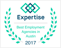 Best Employment Agencies in Austin 2017 badge from Expertise.com