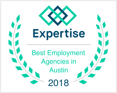 Best Employment Agencies in Austin 2018 badge from Expertise.com
